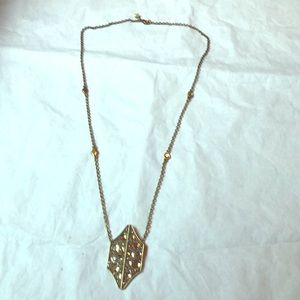 Gold/Crystal Rebecca Minkoff Fashion Necklace